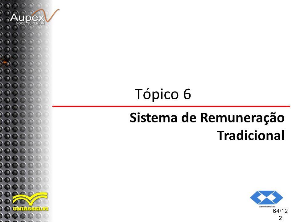Tópico 6 Sistema de Remuneração Tradicional 64/122