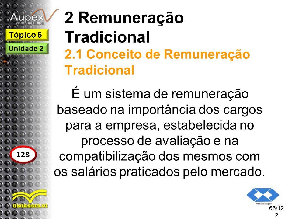 2 Remuneração Tradicional 2.1 Conceito de Remuneração Tradicional