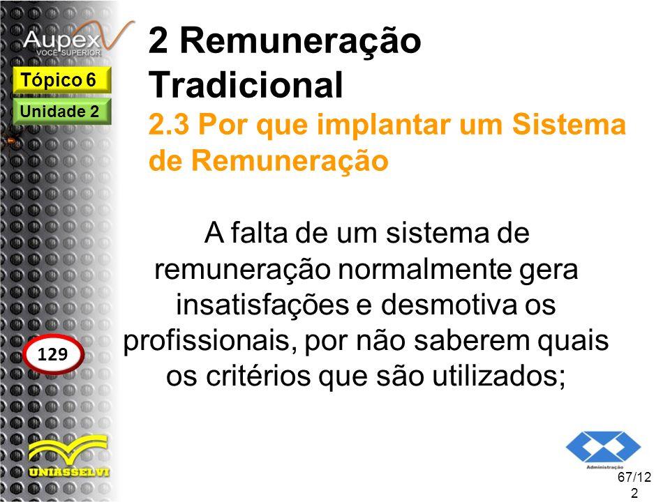 2 Remuneração Tradicional 2