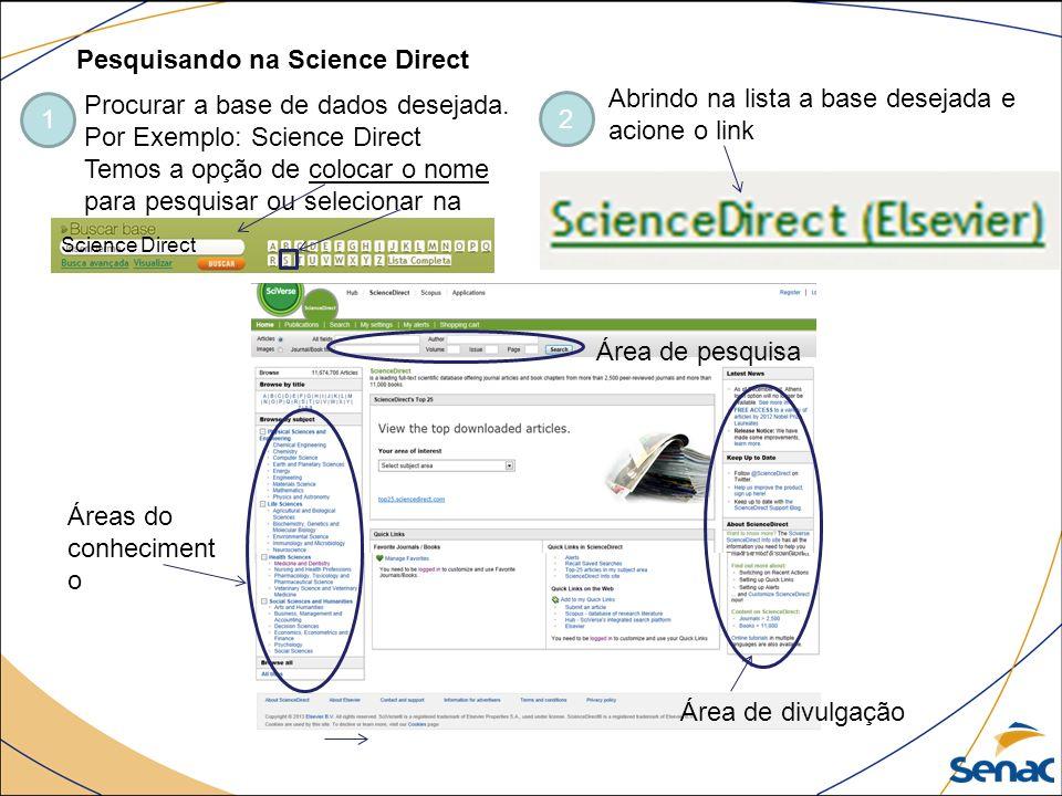 Pesquisando na Science Direct