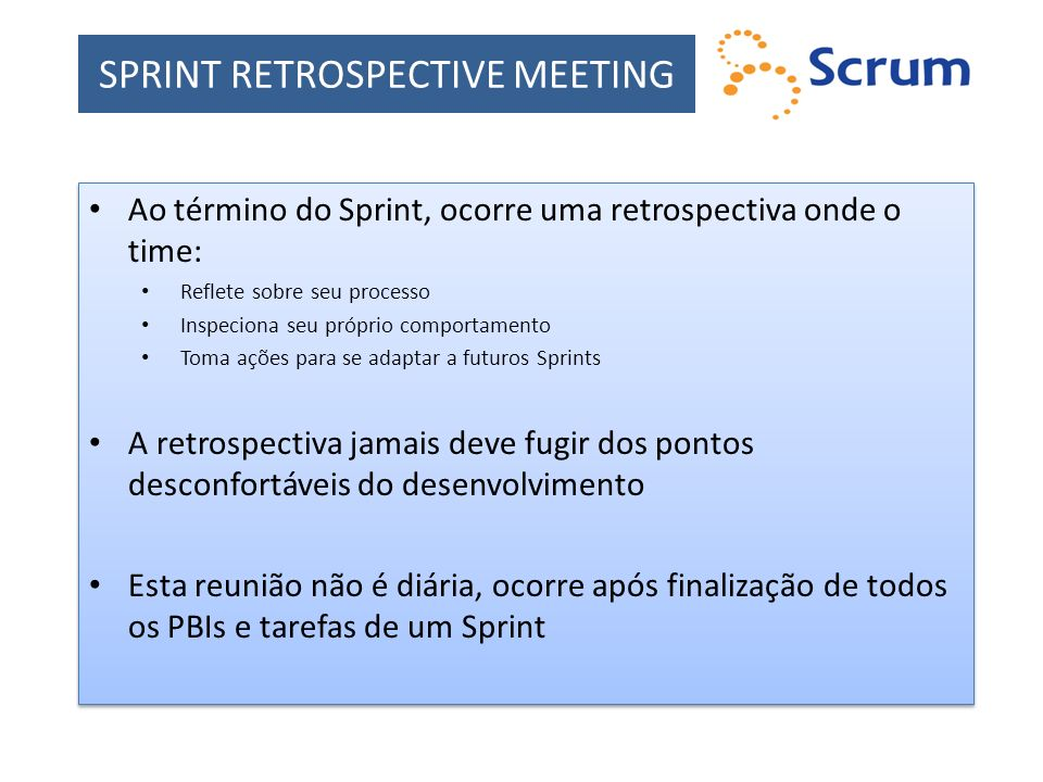 SPRINT RETROSPECTIVE MEETING