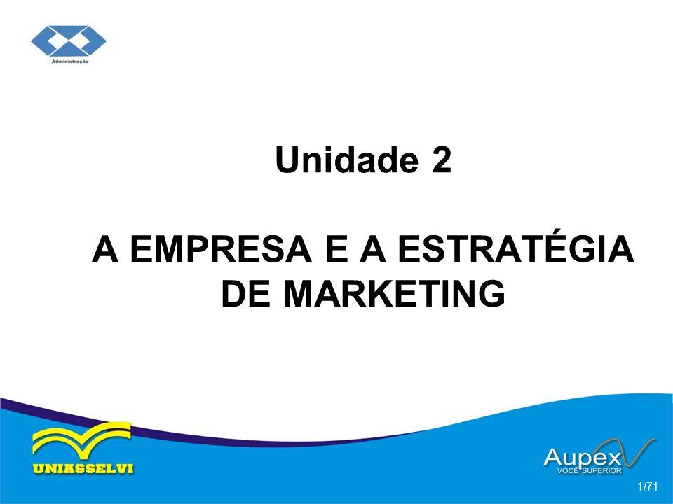 Unidade 2 A EMPRESA E A ESTRATÉGIA DE MARKETING