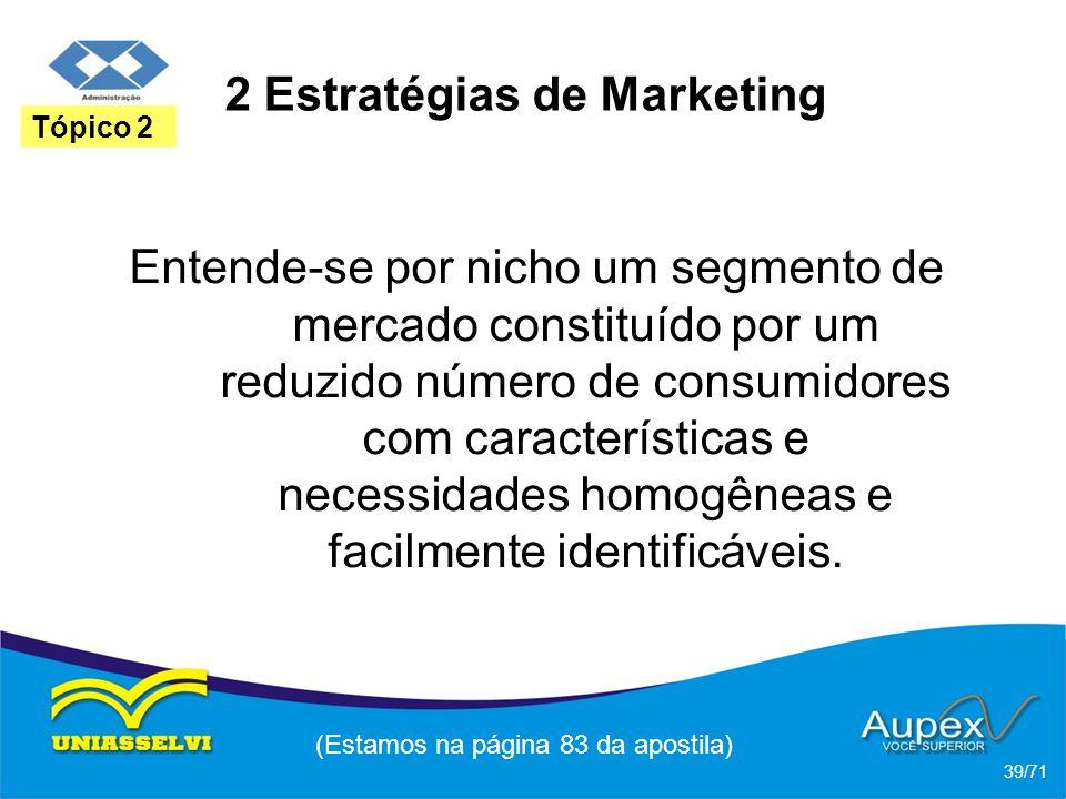 2 Estratégias de Marketing