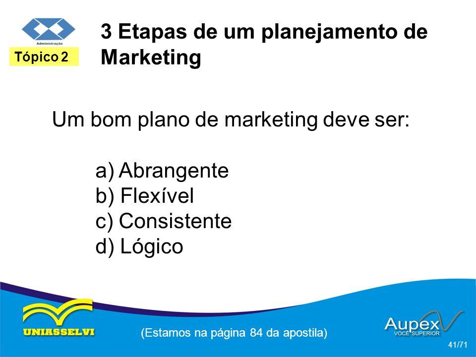 3 Etapas de um planejamento de Marketing