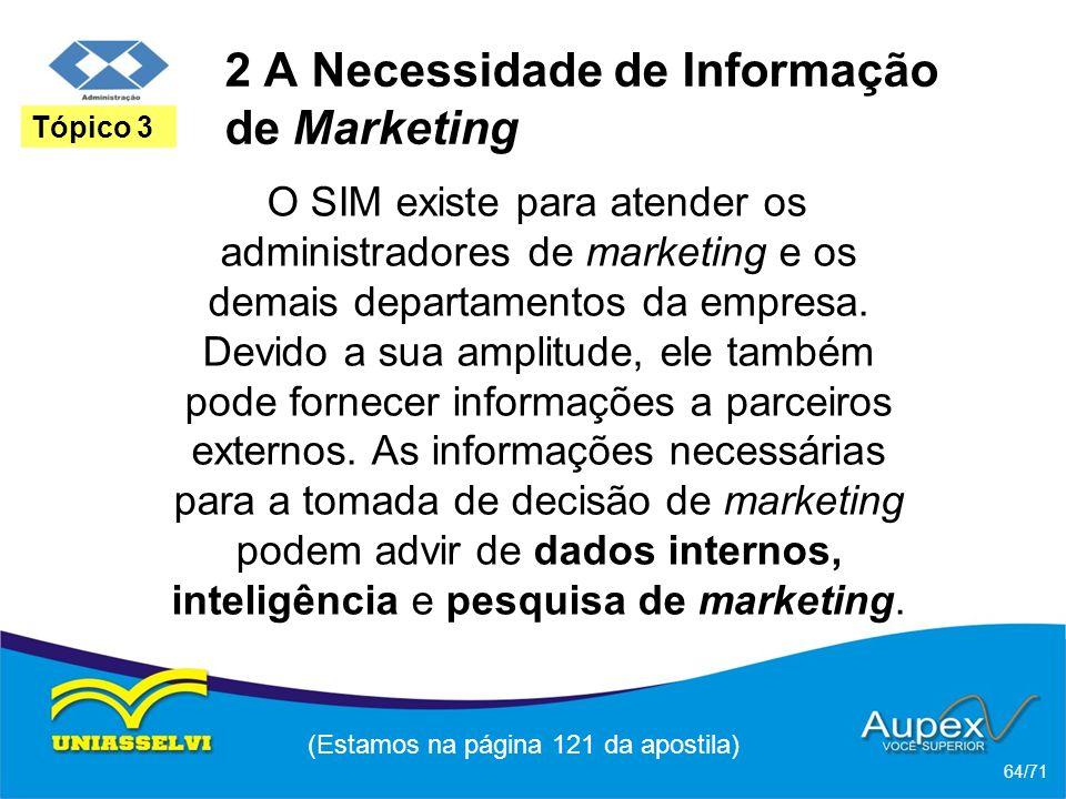2 A Necessidade de Informação de Marketing