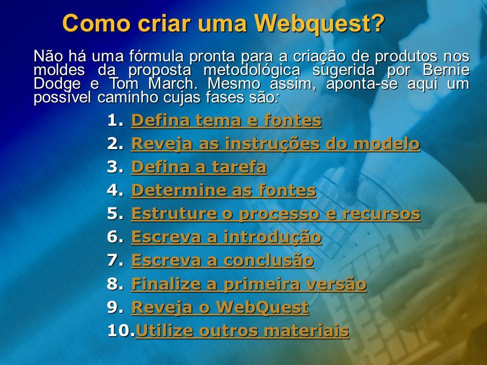 Como criar uma Webquest