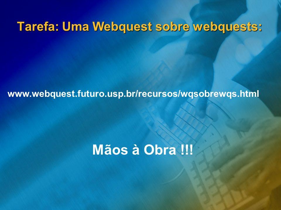 Tarefa: Uma Webquest sobre webquests: