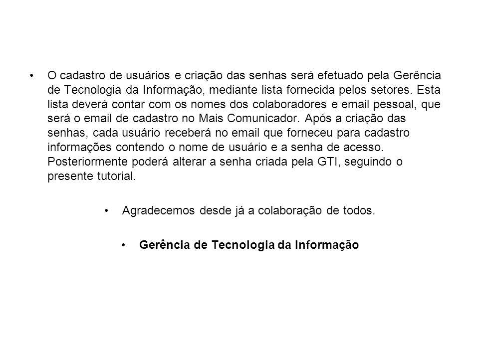 Gerência de Tecnologia da Informação