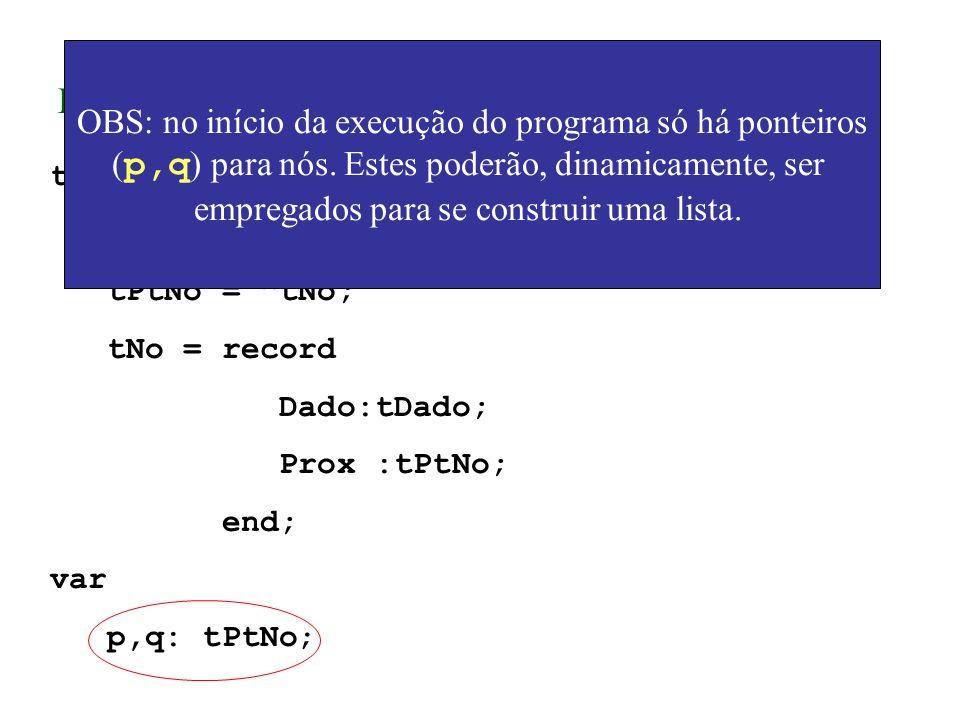 Definição (recursiva) de um nó: