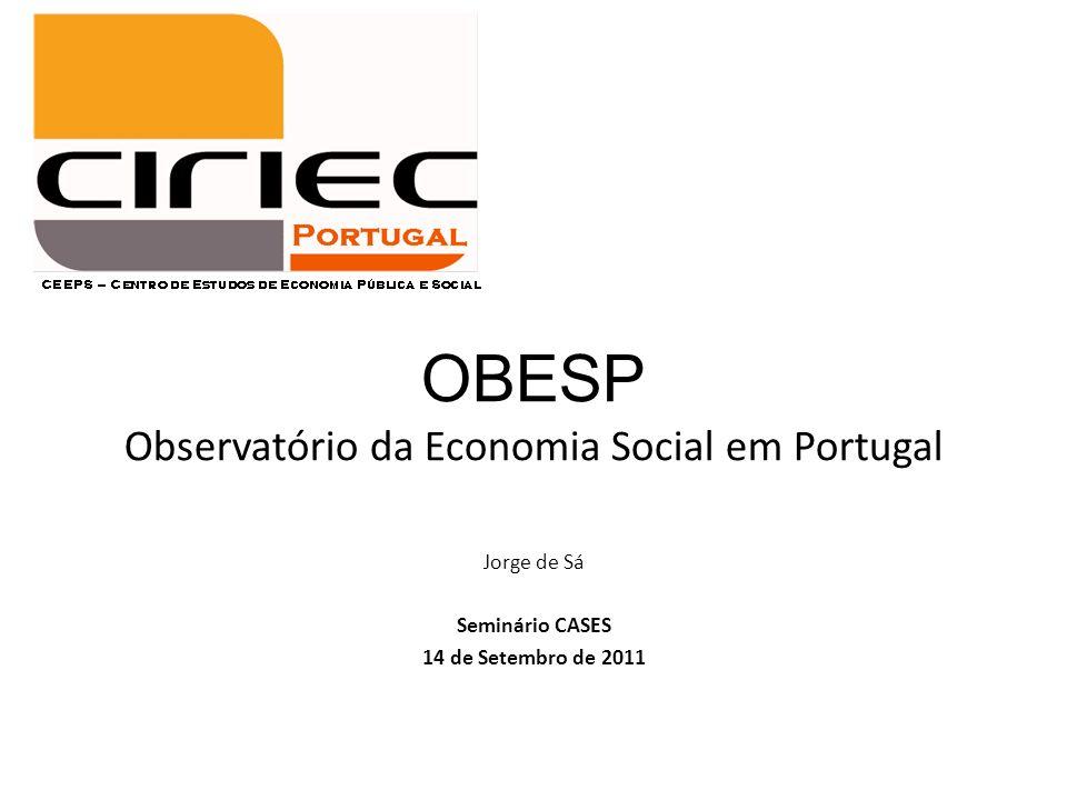 OBESP Observatório da Economia Social em Portugal