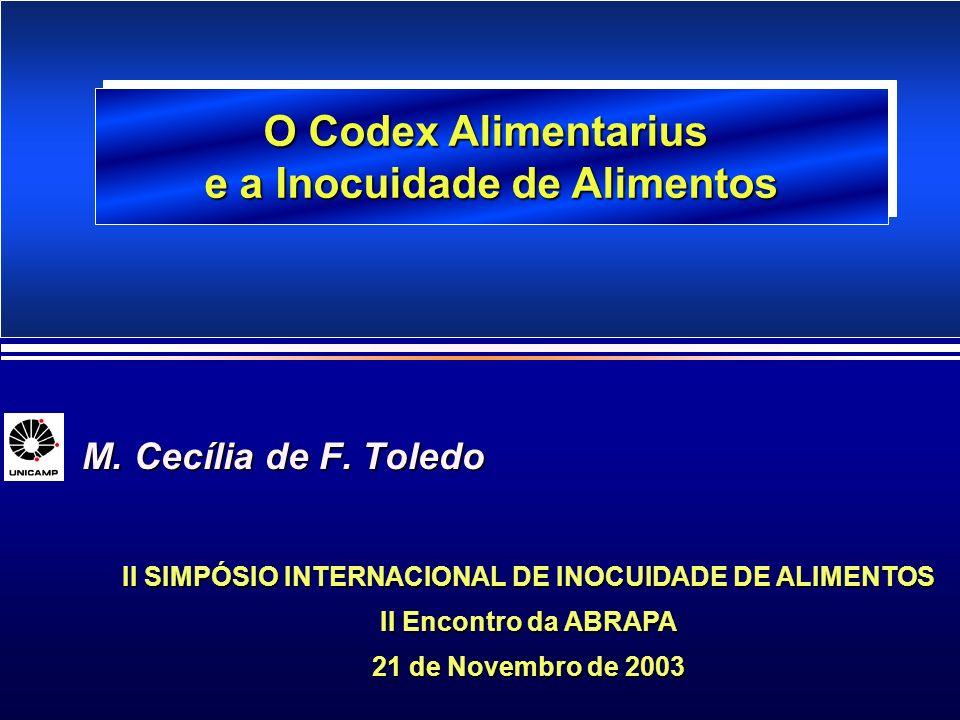 O Codex Alimentarius e a Inocuidade de Alimentos