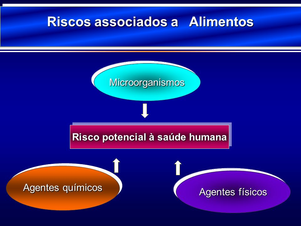Riscos associados a Alimentos Risco potencial à saúde humana