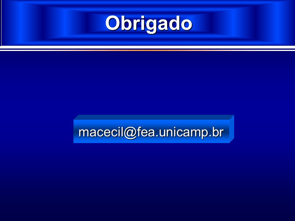 Formato da Norma Obrigado macecil@fea.unicamp.br 2
