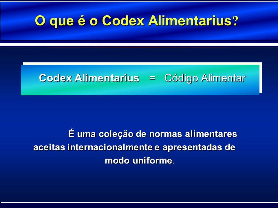 O que é o Codex Alimentarius