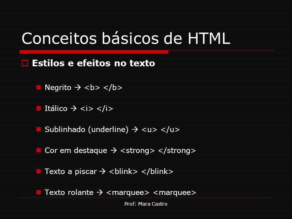 Conceitos básicos de HTML