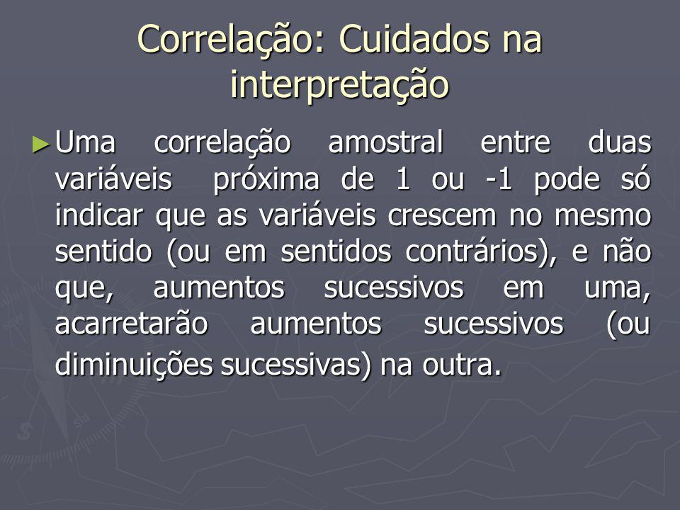 Correlação: Cuidados na interpretação