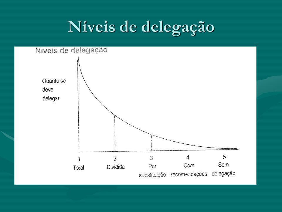 Níveis de delegação
