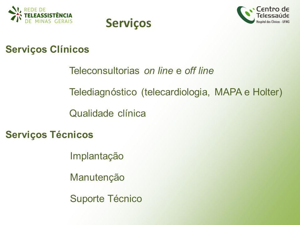 Serviços Serviços Clínicos Teleconsultorias on line e off line