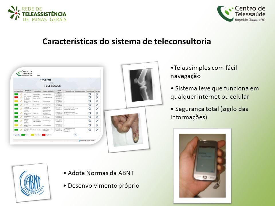 Características do sistema de teleconsultoria
