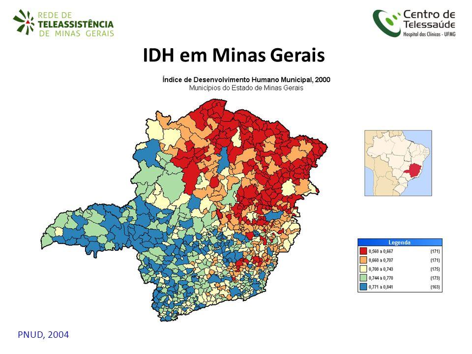 IDH em Minas Gerais PNUD, 2004