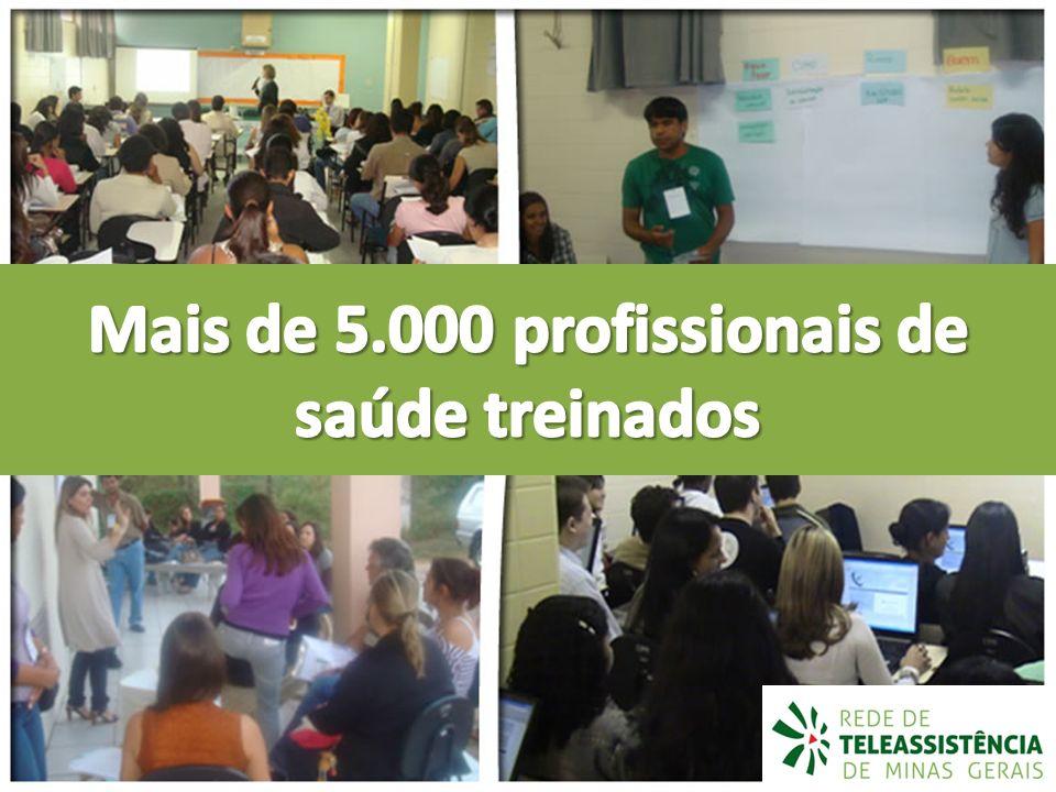 Mais de 5.000 profissionais de saúde treinados