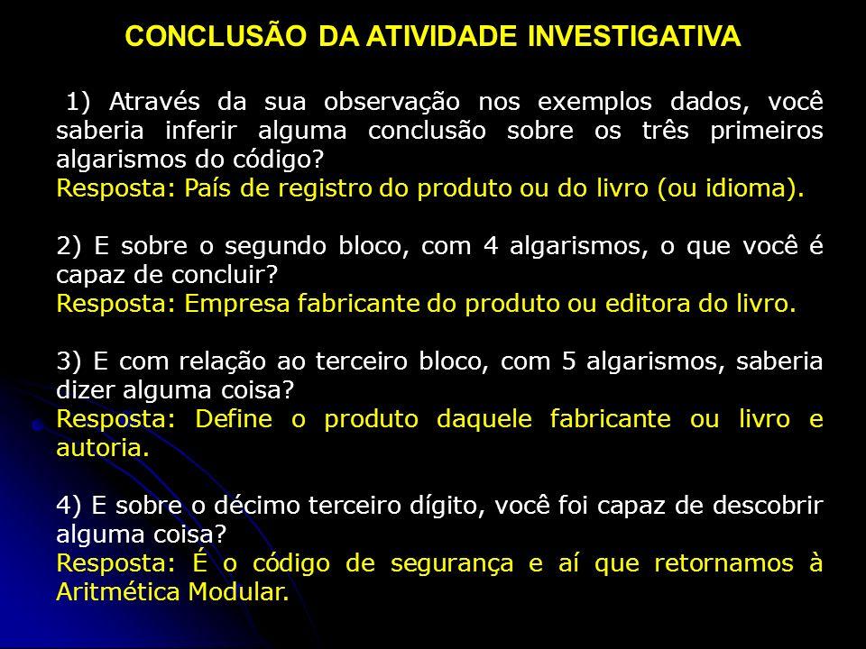 CONCLUSÃO DA ATIVIDADE INVESTIGATIVA
