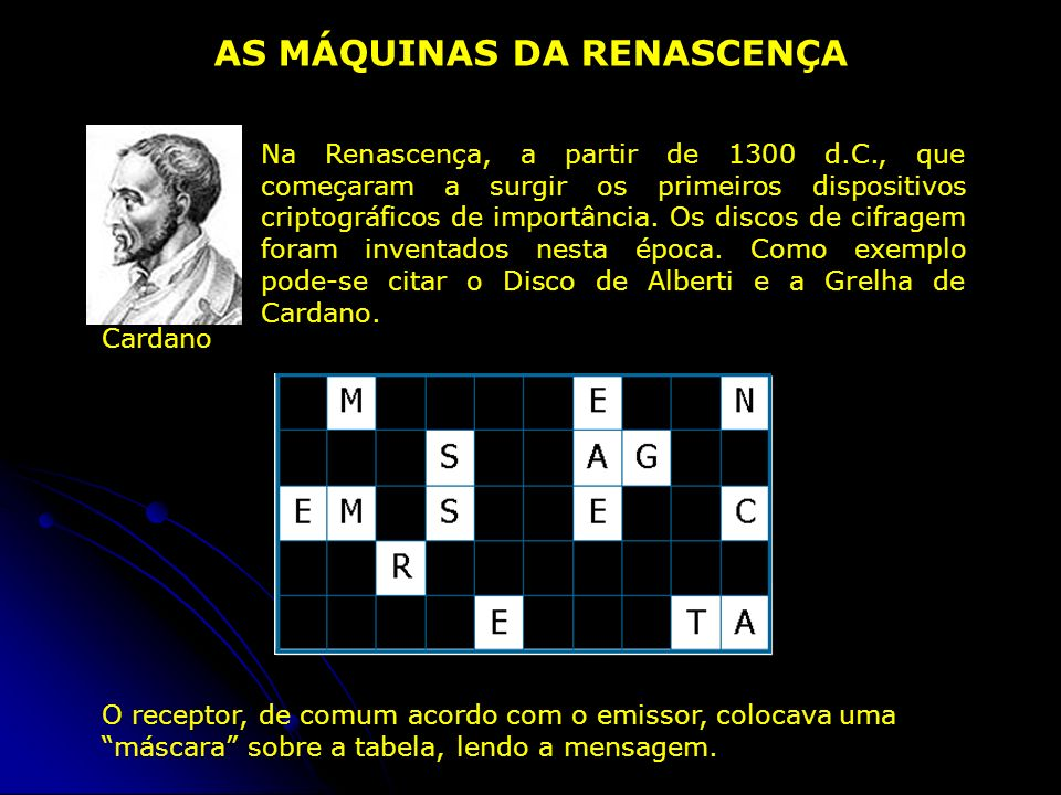 AS MÁQUINAS DA RENASCENÇA