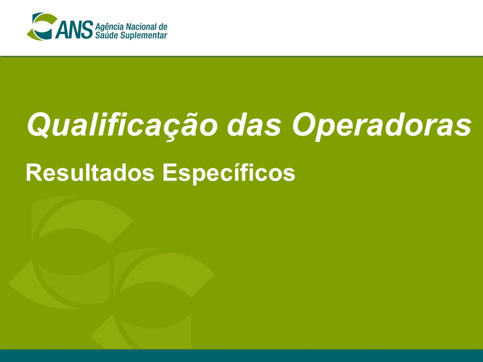 Qualificação das Operadoras