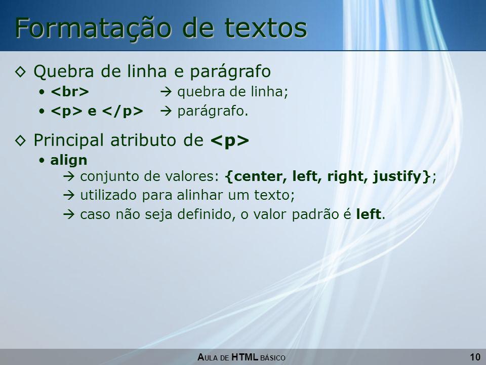 Formatação de textos Quebra de linha e parágrafo