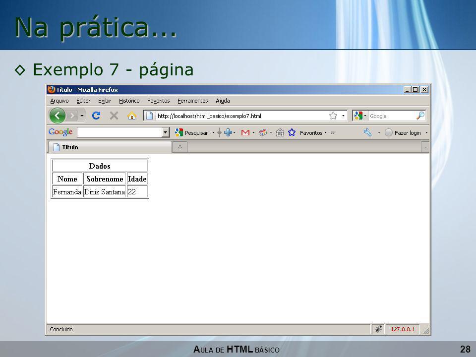 Na prática... Exemplo 7 - página AULA DE HTML BÁSICO 28