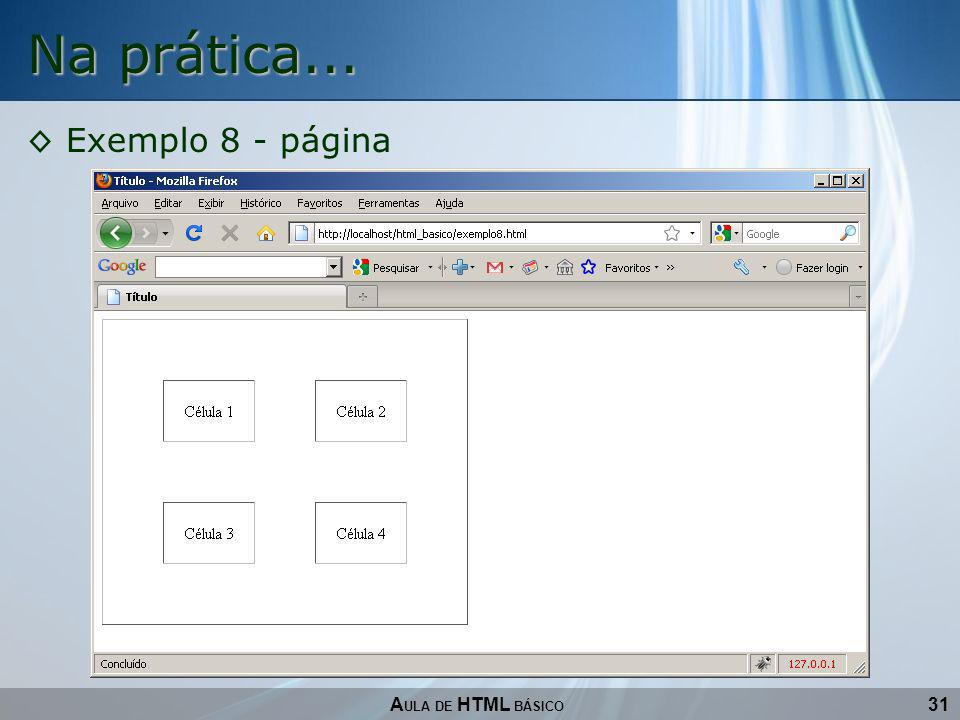 Na prática... Exemplo 8 - página AULA DE HTML BÁSICO 31