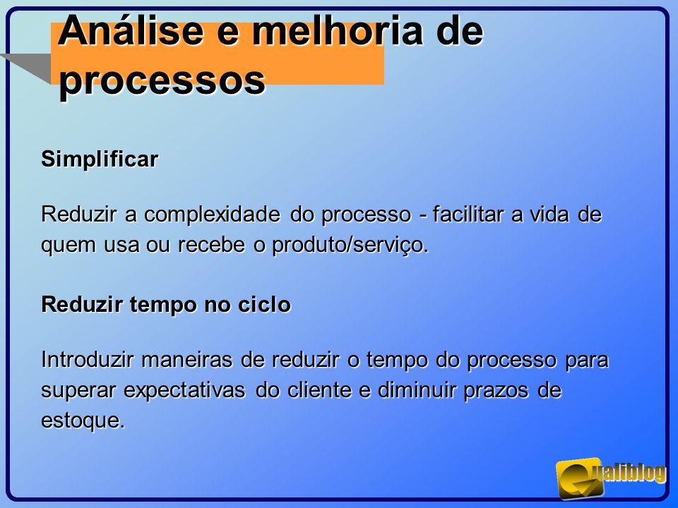 Análise e melhoria de processos Simplificar