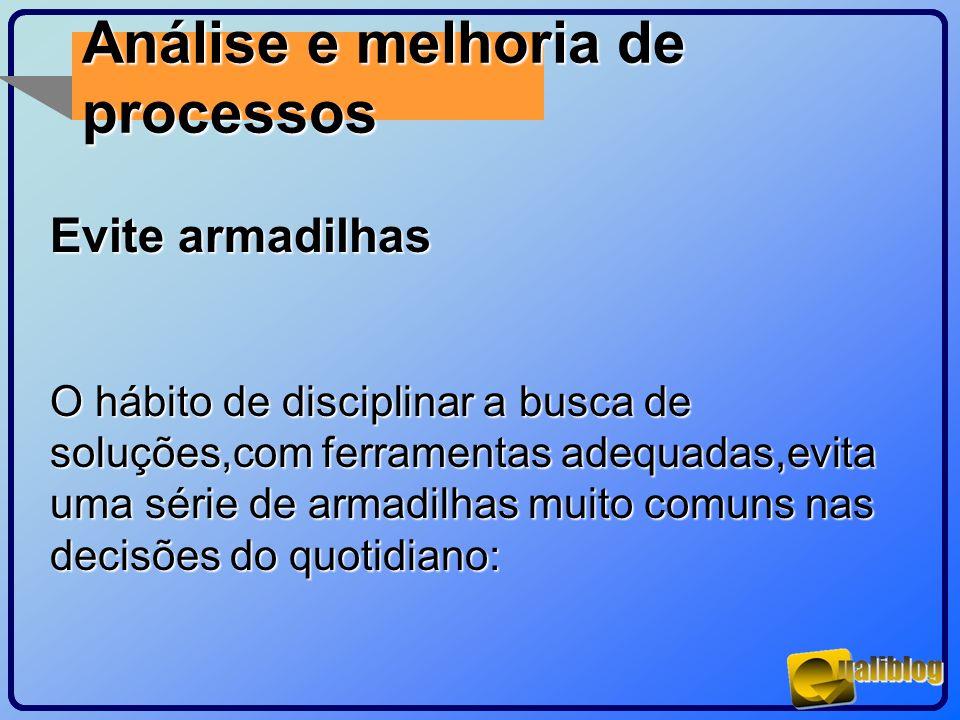 Análise e melhoria de processos Evite armadilhas