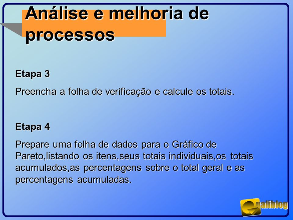 Análise e melhoria de processos Etapa 3
