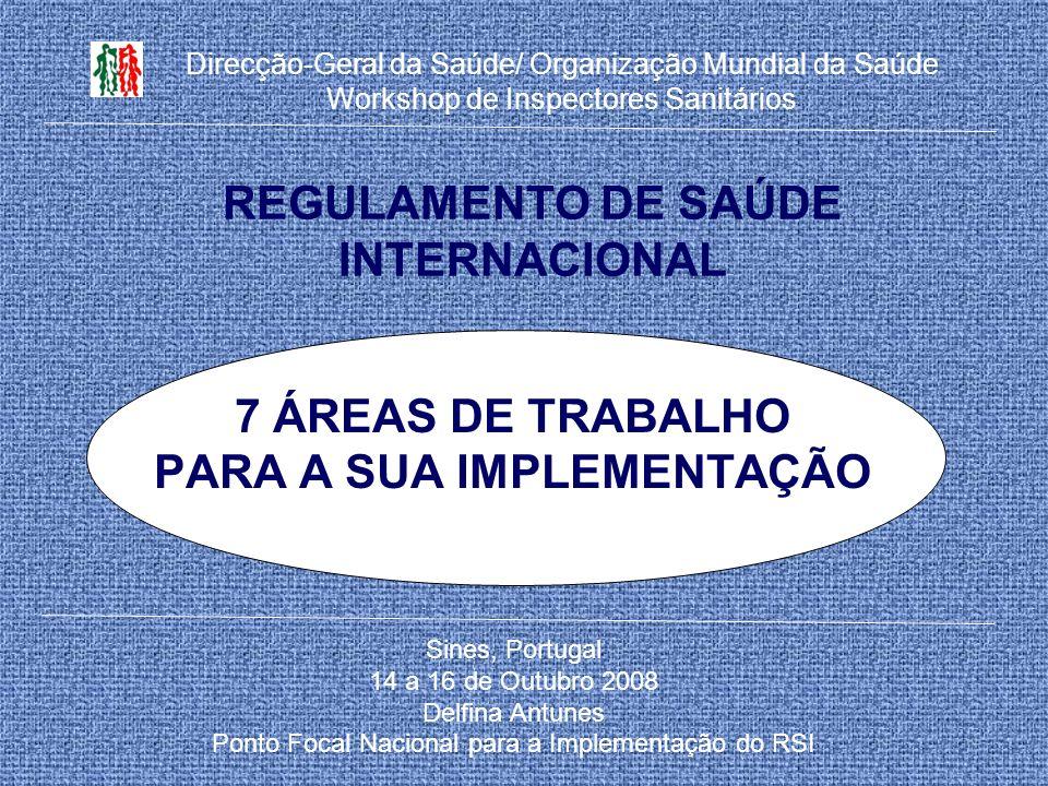 REGULAMENTO DE SAÚDE INTERNACIONAL
