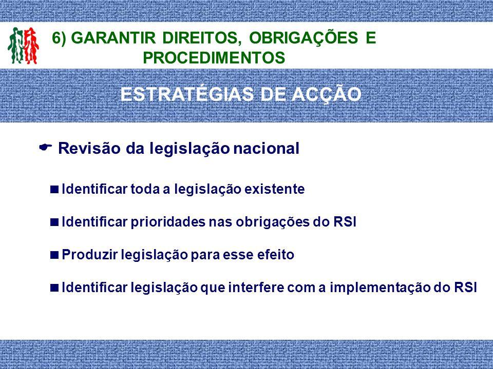 6) GARANTIR DIREITOS, OBRIGAÇÕES E PROCEDIMENTOS