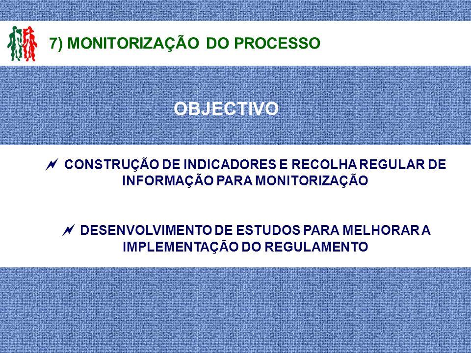 7) MONITORIZAÇÃO DO PROCESSO