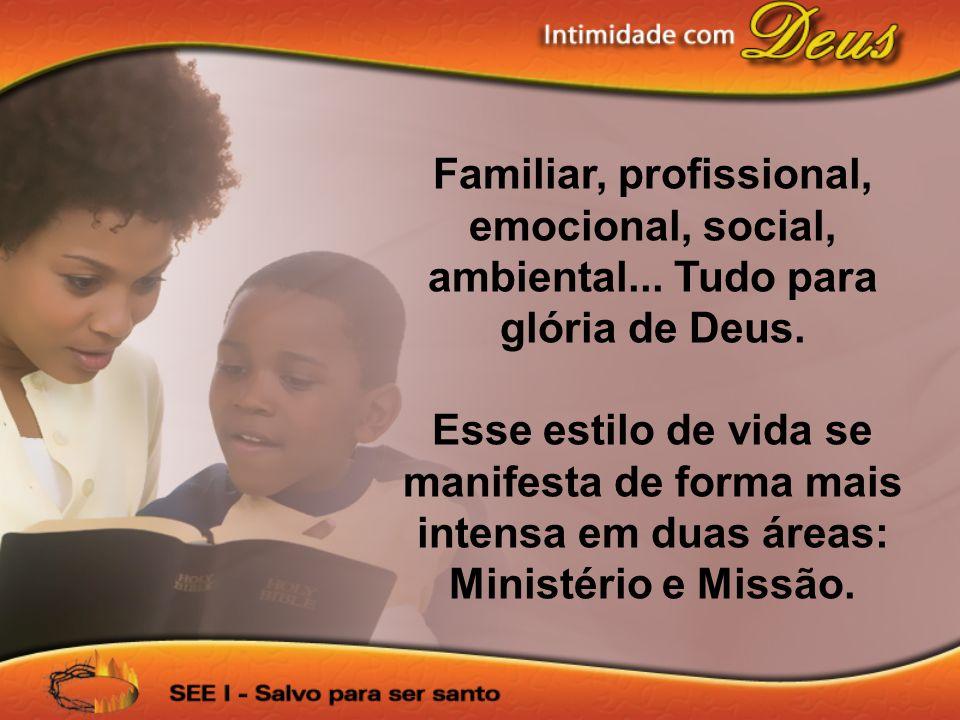 Familiar, profissional, emocional, social, ambiental