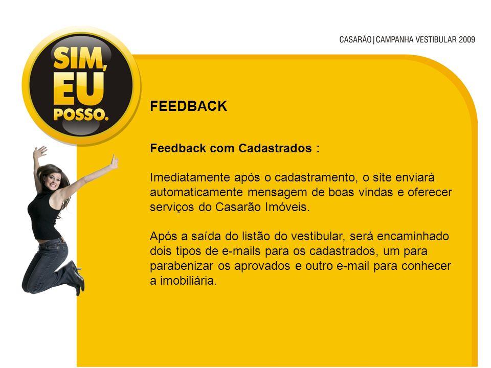 FEEDBACK Feedback com Cadastrados :