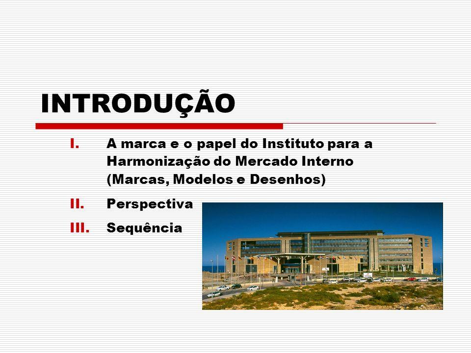 INTRODUÇÃO A marca e o papel do Instituto para a Harmonização do Mercado Interno (Marcas, Modelos e Desenhos)