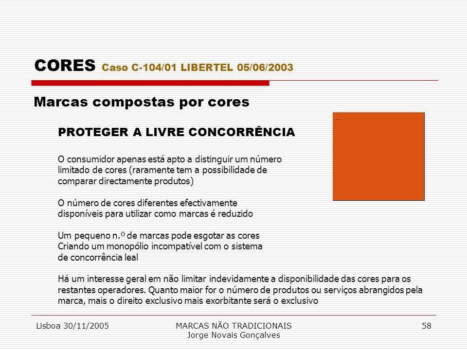CORES Caso C-104/01 LIBERTEL 05/06/2003