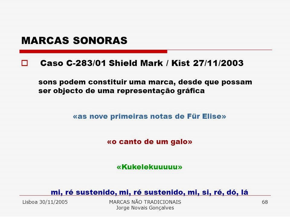 MARCAS SONORAS Caso C-283/01 Shield Mark / Kist 27/11/2003