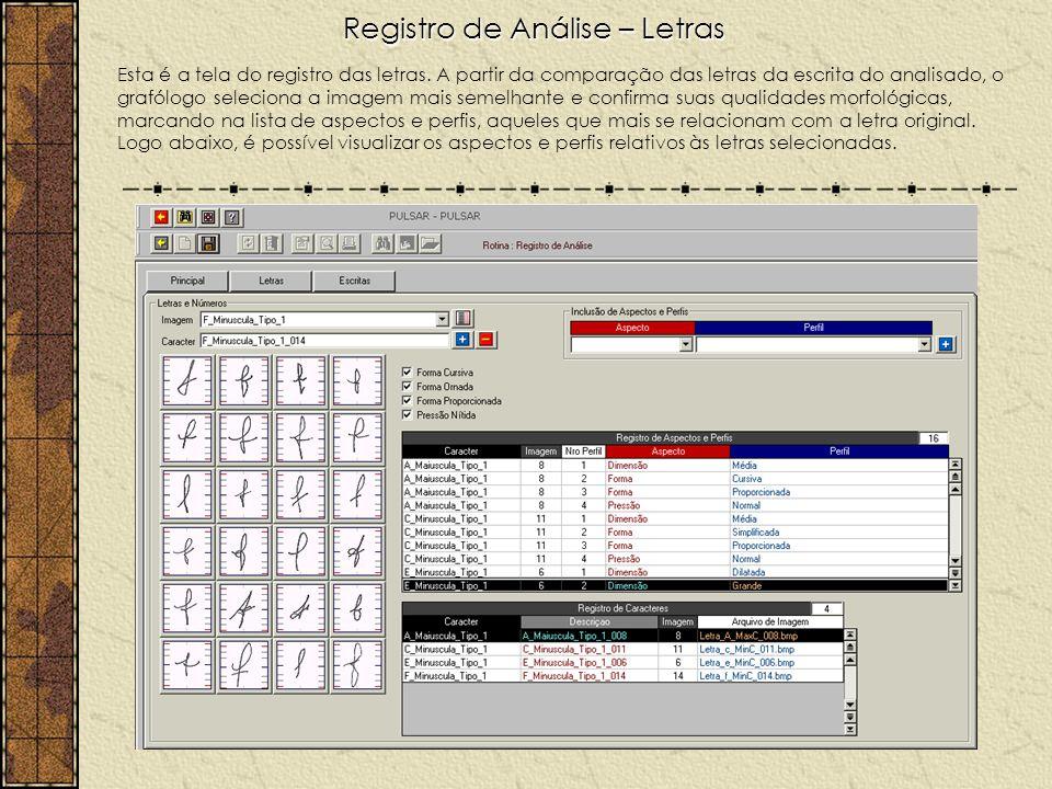 Registro de Análise – Letras