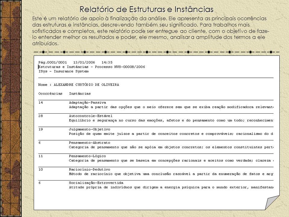 Relatório de Estruturas e Instâncias