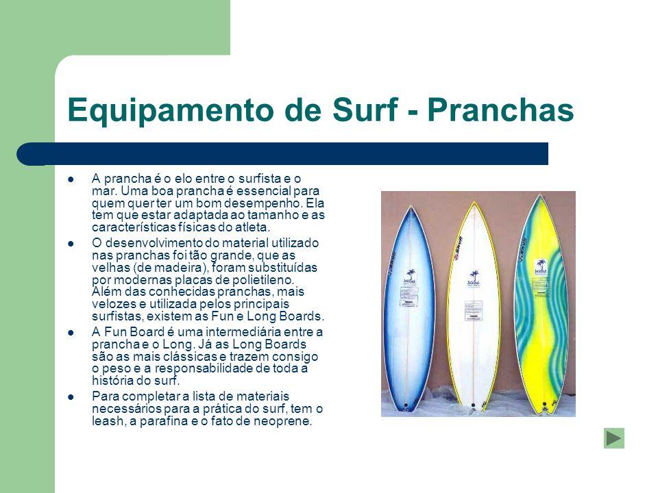Equipamento de Surf - Pranchas