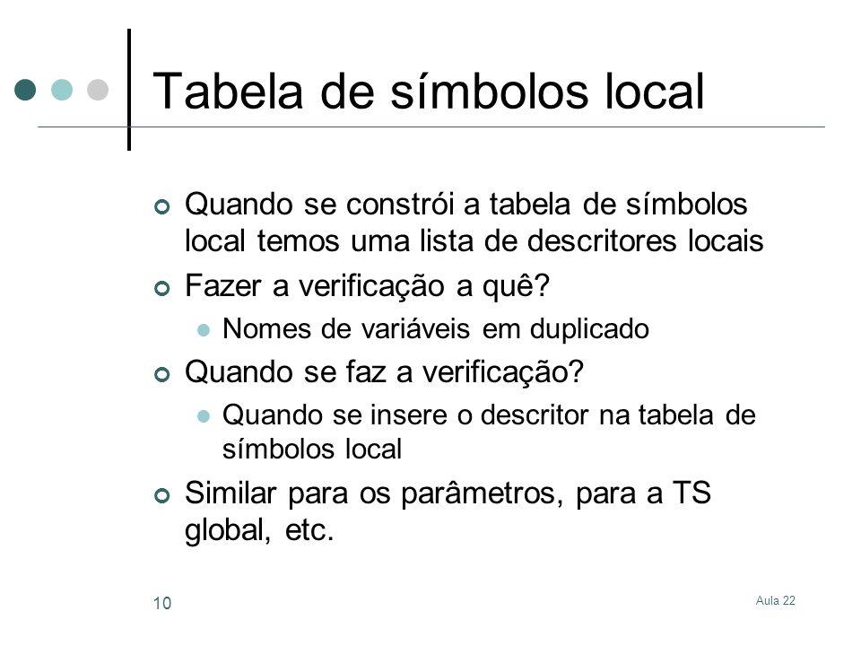 Tabela de símbolos local