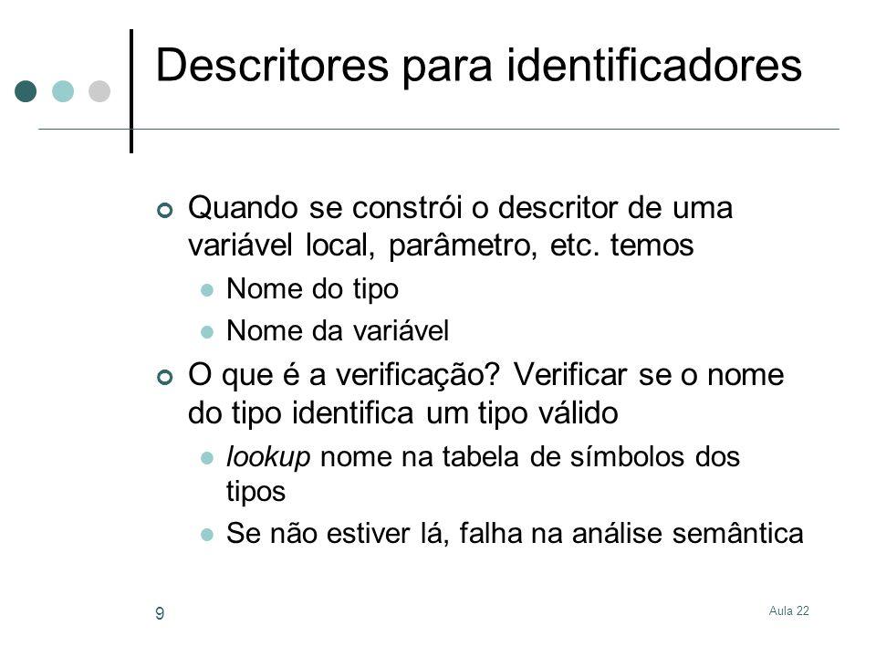 Descritores para identificadores