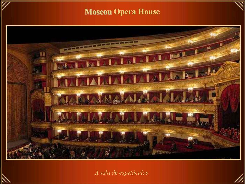 Moscou Opera House A sala de espetáculos