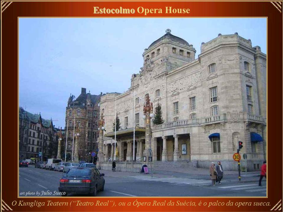 Estocolmo Opera House O Kungliga Teatern ( Teatro Real ), ou a Ópera Real da Suécia, é o palco da opera sueca.