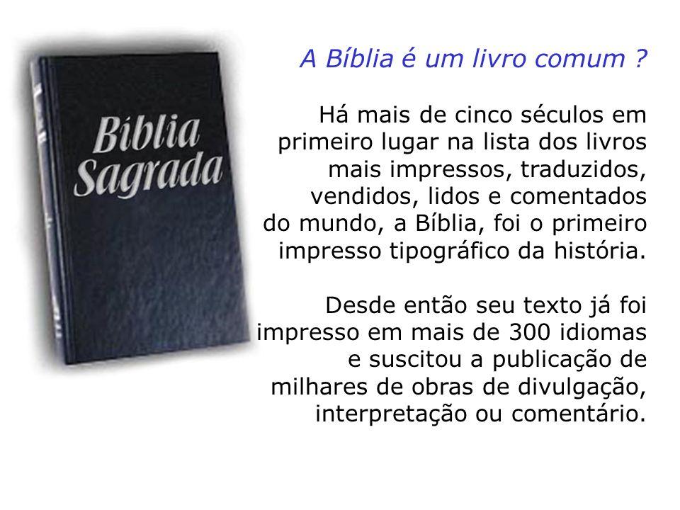 A Bíblia é um livro comum